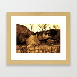 Sand Worm Carcass Framed Art Print