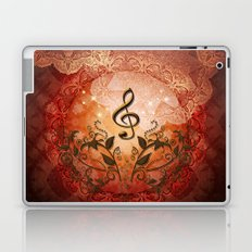Music, clef with Laptop & iPad Skin