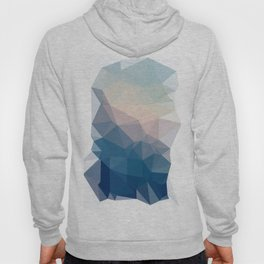BE WITH ME - TRIANGLES ABSTRACT #PINK #BLUE #1 Hoody