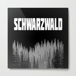 Black Forest Gift Idea Design Motif Metal Print