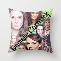 xena Throw Pillows featuring Danielle Cormack by SwanniePhotoArt