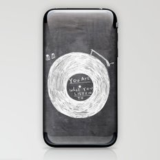 you are what you listen to iPhone & iPod Skin
