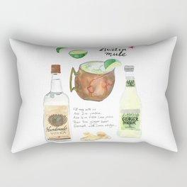 Austin Mule Cocktail Recipe Rectangular Pillow