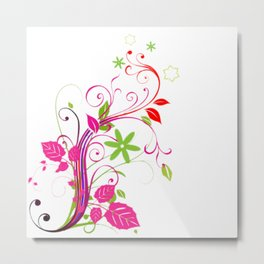 flower drawing Metal Print