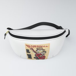 Hey! Get This Unique Detailed Tee Saying Blues Man T-shirt Design Music Guitar Guitarist Musician Fanny Pack