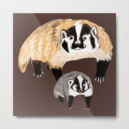 American badger Metal Print