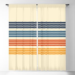 Kenshin - Classic Old School Retro Stripes Blackout Curtain