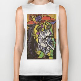 THE WEEPING WOMAN - PICASSO Biker Tank