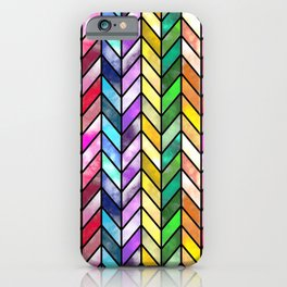 Rainbow Cathedral Window iPhone Case