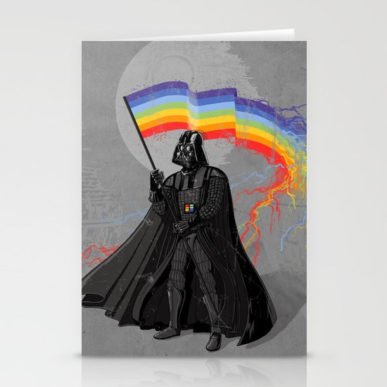 The Rainbow Side of the Force Stationery Cards