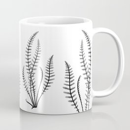 Minimal Black Fern Coffee Mug