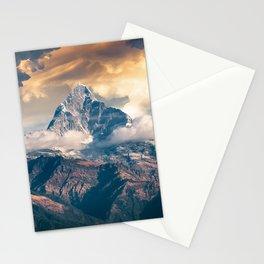 Fantasy Sunset Rock Peaks Stationery Cards