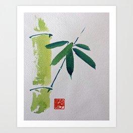 Sumi Bamboo Art Print