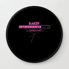 Baker Loading Wall Clock