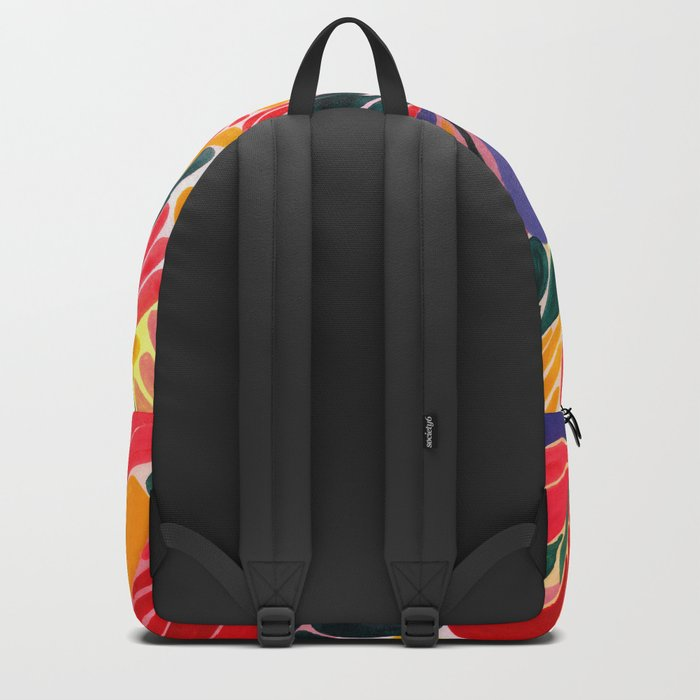Colorful Petals Pattern Backpack