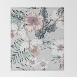 TROPICAL BEAUTY Throw Blanket