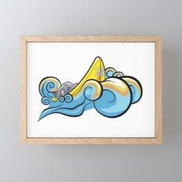 Surf Rock Framed Mini Art Print