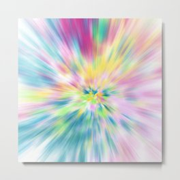Pastel Explosion Tie Dye Abstract Metal Print