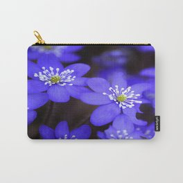 First Spring Flowers in Forest #decor #society6 #buyart Carry-All Pouch