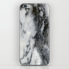 Smokey Gray and Black Marble Pattern iPhone Skin