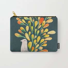 Watercolor Peacock Carry-All Pouch