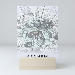 Arnhem, Netherlands, White, City, Map Mini Art Print