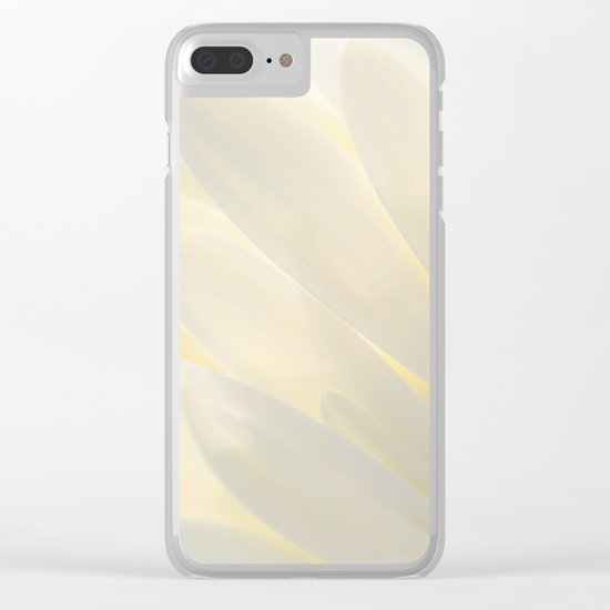 White Daisy in Love Clear iPhone Case