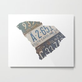 Vintage South Carolina Metal Print