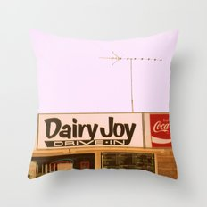 Dairy Joy ~ vintage ice cream sign/stand Throw Pillow