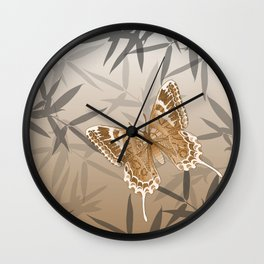 Beautiful Copper Butterfly Design Wall Clock