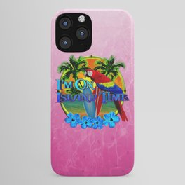 Pink Island Time Sunset iPhone Case