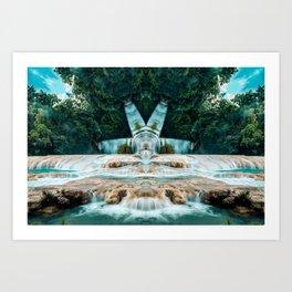 Kaleidoscape: Agua Azul Art Print