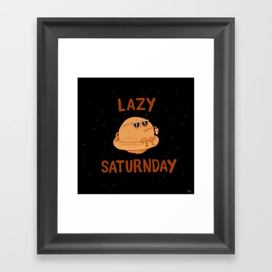 Lazy Saturnday Framed Art Print