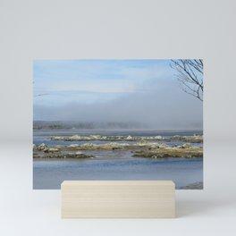 Restful Fog Over the Rocks Mini Art Print