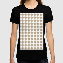 Diamonds - White and Khaki Brown T-shirt