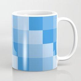 Four Shades of Light Blue Square Coffee Mug