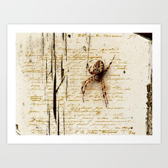 Spider Letter Art Print