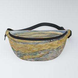 "Vincent van Gogh ""Enclosed field with ploughman"" Fanny Pack"