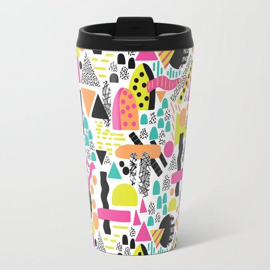 Retro Abstract Travel Mug
