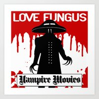 movies Art Prints featuring Vampire Movies by Mat McIvor