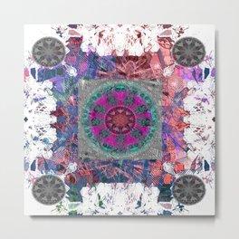 Unlocked Level Mandala Metal Print