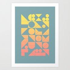 Modern Geometric 06 Art Print