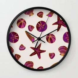 Beach Treasures - Red Wall Clock