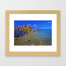 Crystal Clear Mono Lake in the Fall Framed Art Print