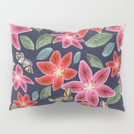 Lilies and Butterflies Pillow Sham