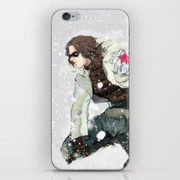winter soldier iPhone Skin