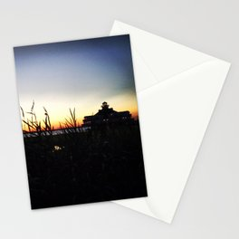 Lighthouse at Sunset Stationery Cards