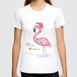 Flamingo Merry Christmas T-shirt