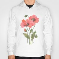 poppies Hoodies featuring POPPIES by Oana Befort
