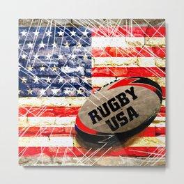 American Rugby Metal Print